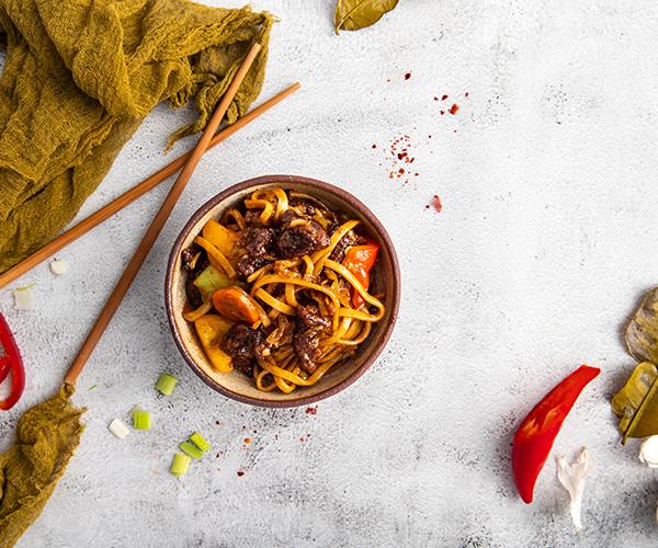 Noodles Udon cu Rata